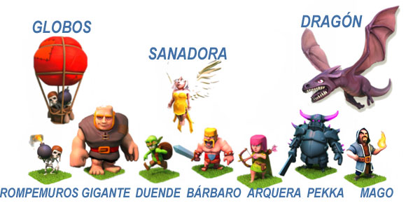 Guerreros y Tropas Clash of Clans