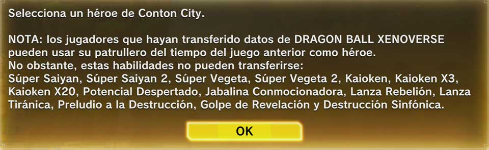 Dragon Ball Xenoverse 2. Traspaso de datos