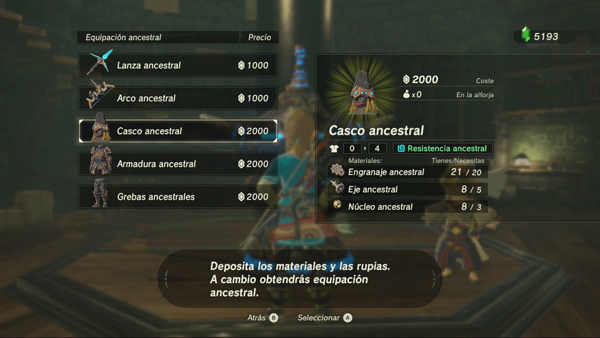 Zeldra Breath of the Wild - Armadura Ancestral