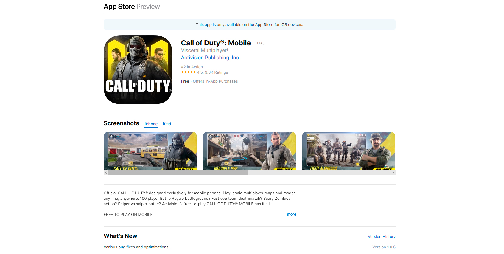 Cómo descargar Call of Duty Mobile en iOS y Android