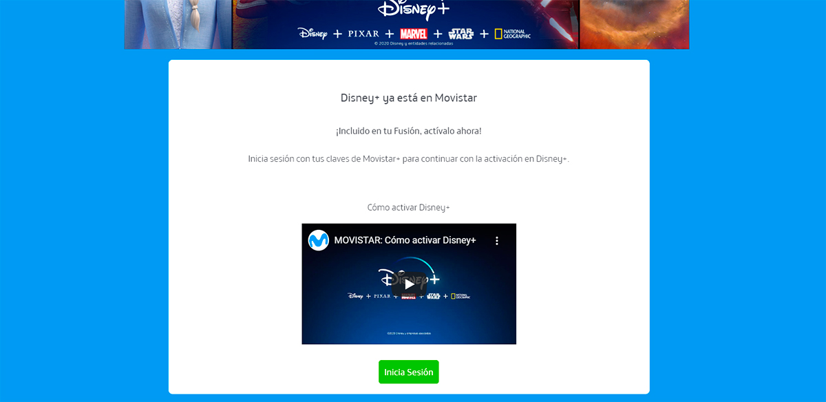 Cómo activar Disney Plus en Movistar