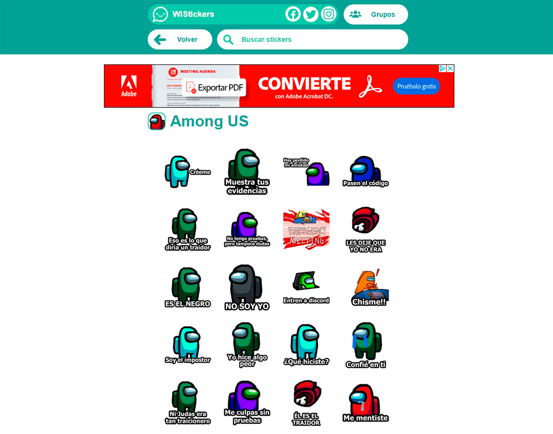 Stickers de Among Us: cómo descargar e instalar en WhatsApp
