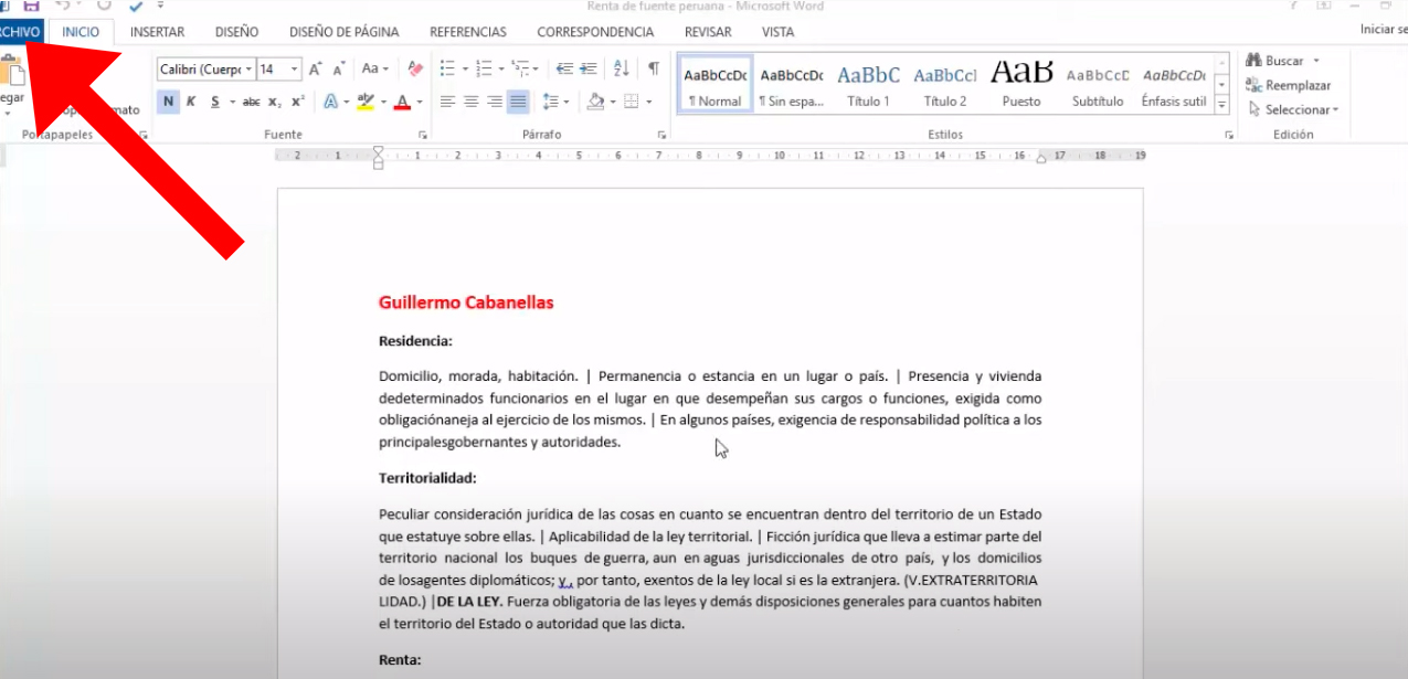 Cómo pasar un documento de Word a PDF